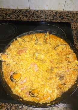 Paella Marisco y pollo