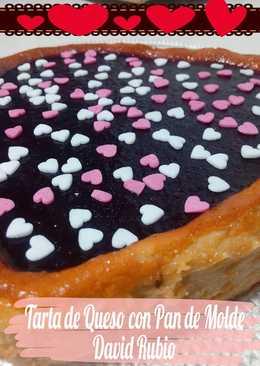 Tarta de Queso con Pan de Molde para San Valentin