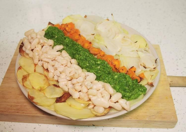 Verduras al horno con salsa de calabac n vegano receta - Salsa para verduras al horno ...