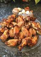 Alitas de pollo fritas condimentadas