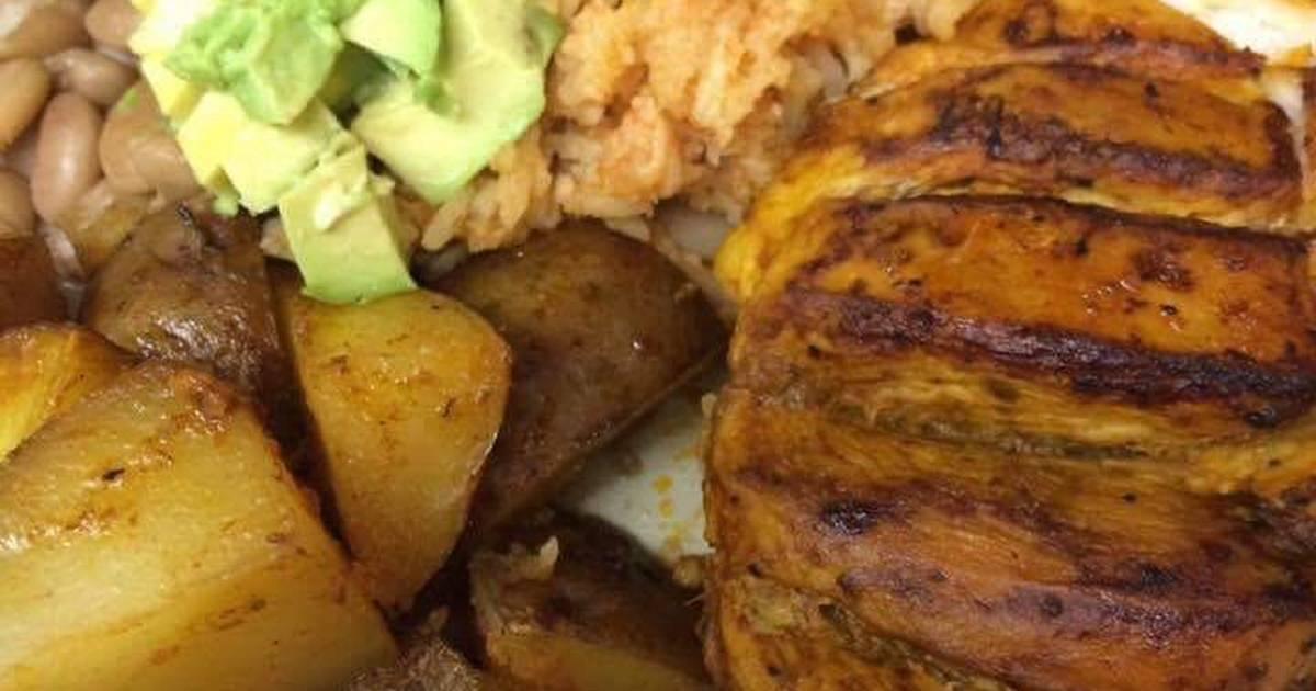 Rollitos de pollo a la salsa barbacoa - Receta Petitchef