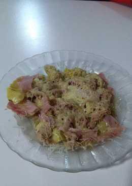 Cena rápida y sana (alcachofas gratinadas)