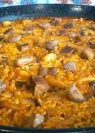 Paella de pato, setas y foie