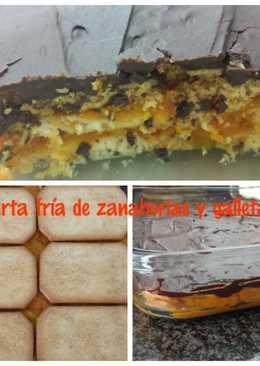 Tarta fría de zanahoria y galletas