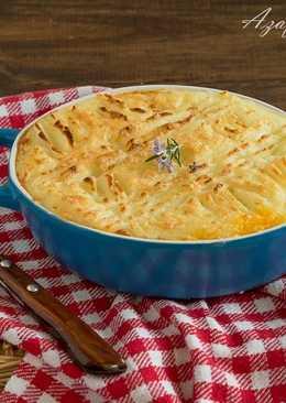 Pastel de carne y puré de patatas