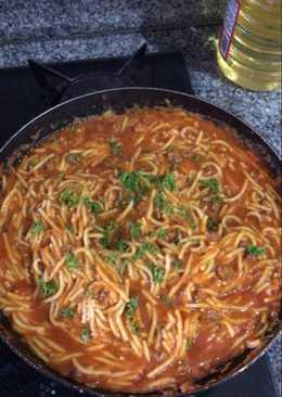 Espaguetis a la mexicana