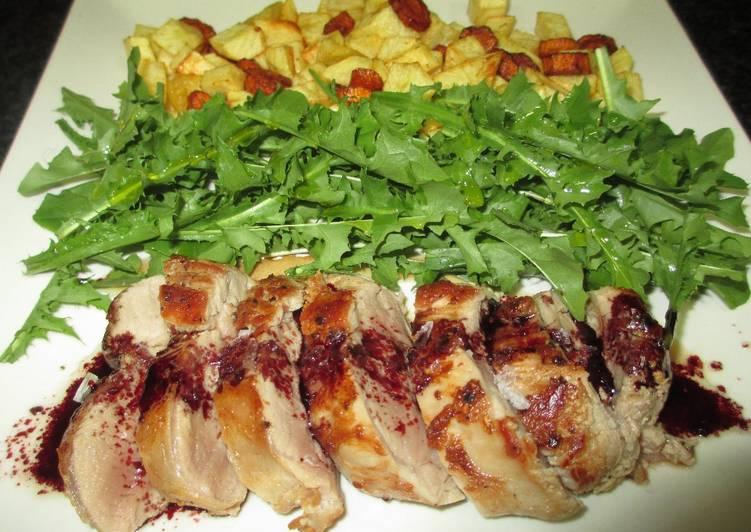 Solomillo de cerdo al horno con patatas y ensalada receta for Solomillo al horno facil y rapido