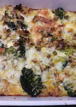 Pastel de brócoli, calabaza y puerros