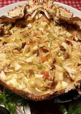 Changurro de centolla con picadillo y balsámico