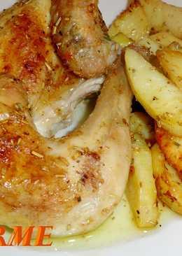 Pollo picantón a la canela