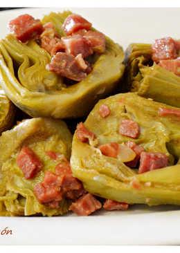 Alcachofas con jamón. (Thermomix)