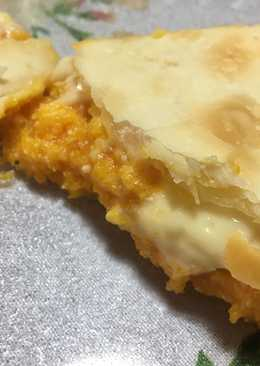 Tarta de calabaza, ricota y muzzarella