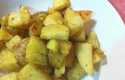Patatas asadas rápidas en microondas
