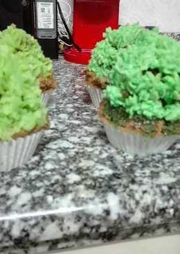 Cupcakes chocolate (cactus)