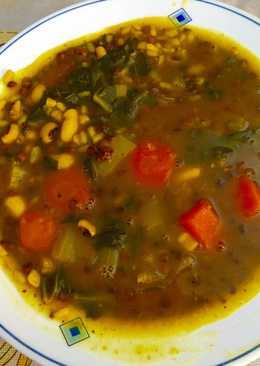 Arroz caldoso con legumbres y verduras