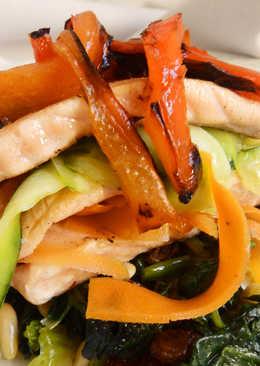 Lasaña de salmón y verduras