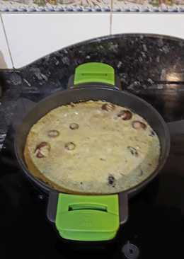 Sepia con shitakes y porto bello con mojo de cilantro y pistachos