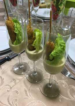 Ensalada cesar en copas 🥂 para aperitivo de final de año🎉