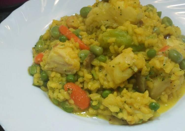 Arroz con verduras y merluza receta de jesus hidalgo cookpad - Arroz con pescado y verduras ...