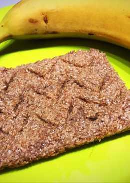 Tostada de banana y avena al microondas light y saludable