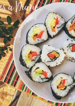 recetas de sushi vegetariano