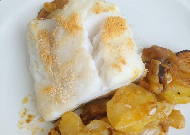 Bacalao al horno receta de cristina cookpad for Como cocinar bacalao al horno