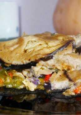 Lasaña vegetal con pollo y crema de champiñones #por una diabetes con sabor *sin harinas
