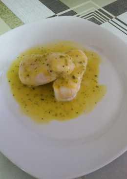 Corazones de merluza en salsa de puerros y azafrán con thermomix