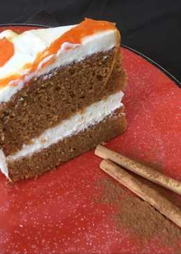 Tarta de zanahoria con frosting de queso y nata