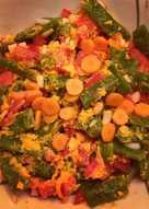 Judía verde con alioli de zanahoria