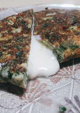 Omelette de espinaca light