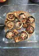 Champiñones 🍄 rellenos de jamón ibérico 😛