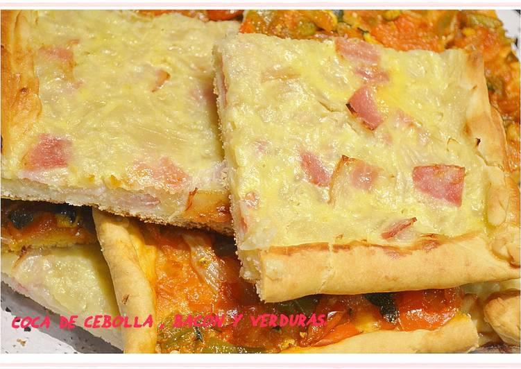 Coca de cebolla y beicon (Thermomix)