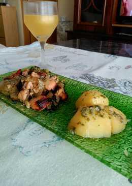 Tacos de pavo regado con oro