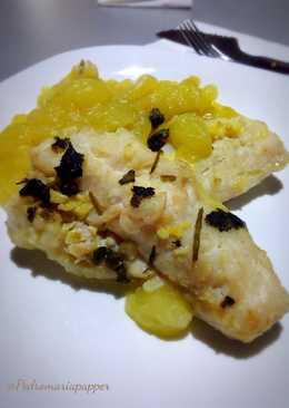 Pescadilla con Patatas al Varoma.(Thermomix)