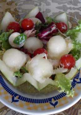 Bolitas de melón con melva