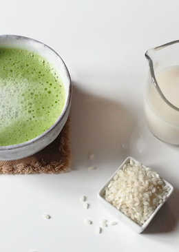 Matcha Latte con leche de arroz (sin gluten)