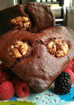 Bizcocho de cacao y plátano