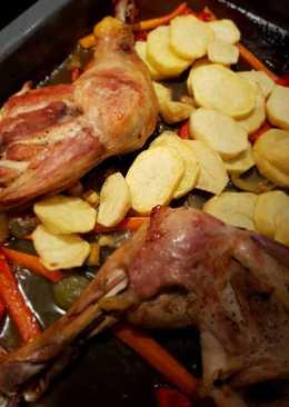 Zancos de pollo al horno