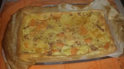 Quiche de verduras y jamón serrano