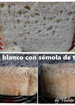 Pan blanco con sémola de trigo (en panificadora)