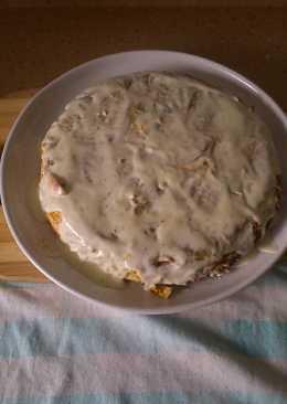 Pastel de verduras y roquefort