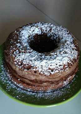 Bizcocho de chocolate y nueces (microondas)