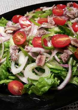 Ensalada verde picante con anchoas