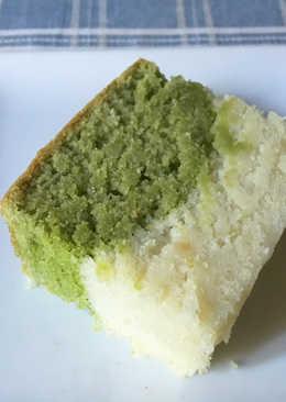 Matcha Pound Cake hecho con harina de arroz (sin gluten, sin huevo)