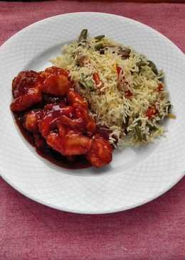 Pollo chino agridulce