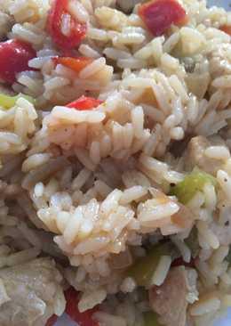 Arroz con curry 🍛 pollo 🍗 y verduras 🥒