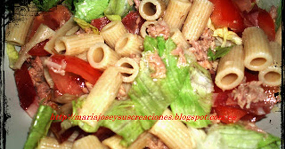 Ensalada de pasta integral 9 recetas caseras cookpad for Ensalada de pasta integral