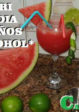 Daiquiri de sandía sin alcohol