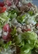 Ensalada de atún con arroz integral